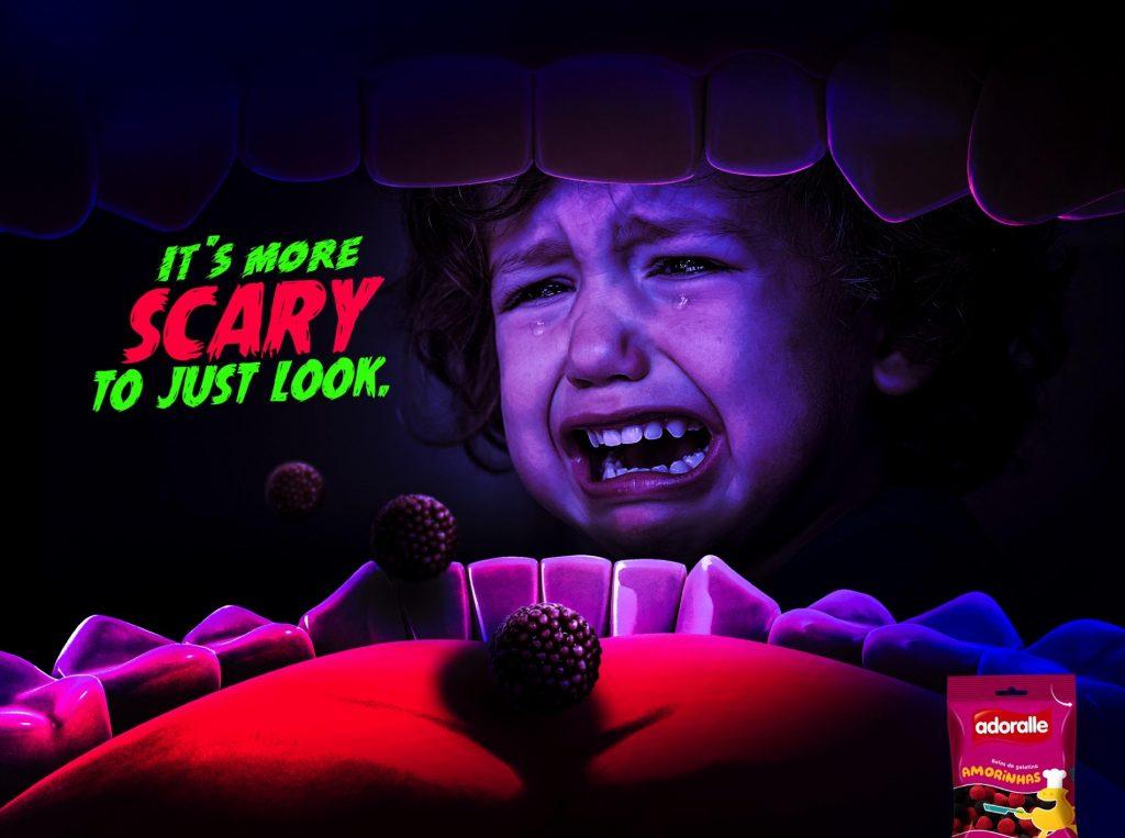 Menino com muito medo