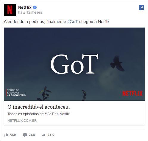 GoT Na Netflix