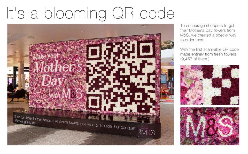 QR Code Com Flores
