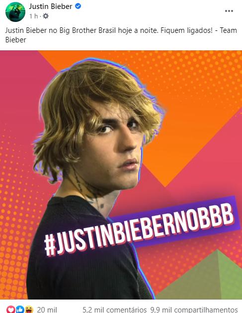 Justin Bieber Na Festa Do BBB21